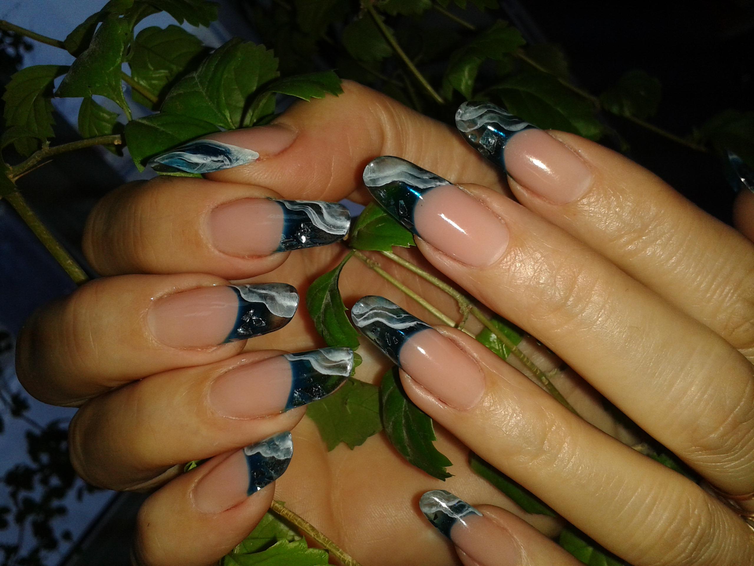 Ногти фото дизайн витражи